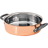 Copper, Saute Pan Braiser / Stew Pot Without Lid, 9.5""