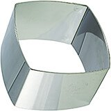 Stainless Steel Square Ring Molds, Convex Sides, 4/PK