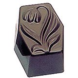 Polycarbonate Tulip Rectangles Chocolate Molds, Sheet Of 36