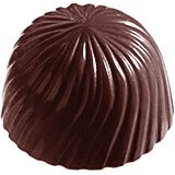 Polycarbonate Round Swirls Chocolate Molds, Sheet Of 24