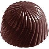 Polycarbonate Round Swirls Chocolate Molds, Sheet Of 24