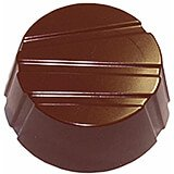 Polycarbonate Striped Circles Chocolate Molds, Sheet Of 28