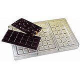 Polycarbonate Chocolate Tablets Chocolate Molds, Sheet Of 3