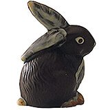 Polycarbonate Easter Bunny Chocolate Mold, 5""
