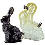 "Polycarbonate Sitting Rabbit Chocolate Mold, 6.75"""