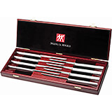 Twin 8pc Stainless Steel Steak Knife Set W/ Presentation Box