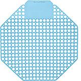 Blue, Plastic Urinal Screen, Cotton Blossom Urinal Deodorizer, 10/PK