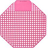 Pink, Plastic Urinal Screen, Cherry Urinal Deodorizer, 10/PK