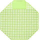 Green, Plastic Urinal Screen, Cucumber Melon Urinal Deodorizer, 10/PK
