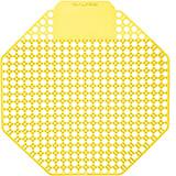 Yellow, Plastic Urinal Screen, Mango Urinal Deodorizer, 10/PK