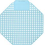 Blue, Plastic Urinal Screen, Ocean Mist Urinal Deodorizer, 10/PK