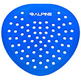 Blue, Pvc Flat Urinal Screen, Bubble Gum Urinal Deodorizer, 10/PK