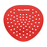 Red, Pvc Flat Urinal Screen, Cherry Urinal Deodorizer, 10/PK