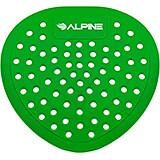 Green, Pvc Flat Urinal Screen, Apple Urinal Deodorizer, 10/PK