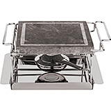 Small Portable Stone Grill Set