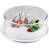 "Clear, Luran 13"" Round Cake Dome"