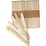 "Light Wood Tone, Wooden Ice Cream Sticks, 9"", 500/PK"