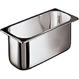 "Stainless Steel Ice Cream Container, 14.13"" X 6.5"", 5.25 Qt"