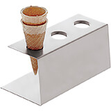 Stainless Steel Ice Cream Cone Holder, Holds 3 Cones