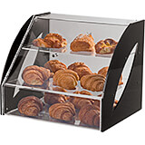 Black, Plexiglass Three-tier Bread / Pastry Display Case, Counter Top