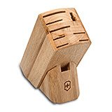 9-Slot Hardwood Knife Block with Victorinox Logo