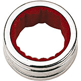 Chrome Steel Wine Drop Catcher, Chromed, 1.5""