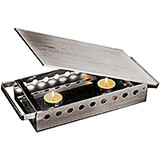 "Stainless Steel Plate / Food Warmer, 7.12"" X 13"""