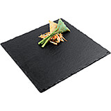 Black, Natural Slate Plate, Square, 10""