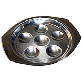 Stainless Steel Escargot Dish, 6 Compartments