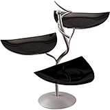 Black, Contemporary Three-tier Buffet Display and Bowls, 22""
