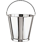 Stainless Steel Graduated Ice Bucket with Base, 12.63 Qt