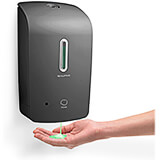 Gray, ABS Automatic Hands Free Bulk Foam Soap Dispenser, 33 Oz Capacity