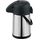 Black, Stainless Steel Push-button Airpot, 2 Qt