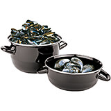 Black, Enamel Steel Mussel Pot, 1.65 Qt