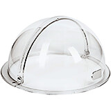 "Clear, Plastic Dome Cover for Bread Basket, 15"" Diam"