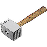 "Aluminum Meat Tenderizer, Heavy Duty Hammer Mallet W/ Wood Handle, 12.5"" X 4.25"""
