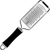 Black, Stainless Steel Grater, Fine Perforations, 11.88""