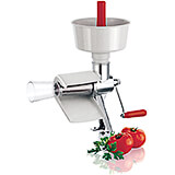 Stainless Steel Tomato Juicer Mill W/ Removable Plastic Hoppers, Manual