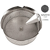 Tin Replacement Sieve for Food Mill 42577-39, 1.5 Mm