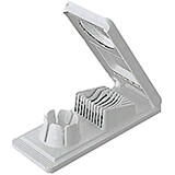 White, Plastic Dual Egg Slicer and 6 Wedge Cutter