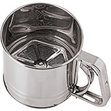 Stainless Steel Flour Sifter, 4.75""