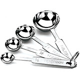Stainless Steel 4-Piece Measuring Spoon Set