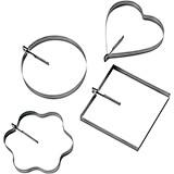 Stainless Steel Egg Ring, Multi-shape, Set Of 4
