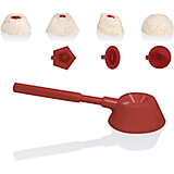 Red, ABS Rice Mold Scoop, 3 Interchangeable Shapes