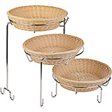 "Chrome Steel Three-tier Display Stand for 15"" Bowls / Baskets"
