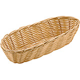 Light Wood Tone, Polyrattan Oblong Bread Basket, 14.88 X 6""
