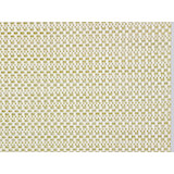 "Polyester / Vinyl Beige and White Placemats, 16.5"" X 13"", 6/PK"