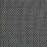 "Black, Polyester / Vinyl Placemats, 16.5"" X 13"", 6/PK"