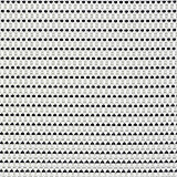 "Black And White, Polyester / Vinyl Placemats, 16.5"" X 13"", 6/PK"