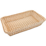 "Light Wood Tone, Polyrattan Bread Basket - 1/1 Gn, 4"" Deep"